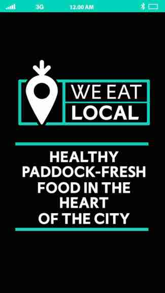 Opening screen of the We Eat Local app
