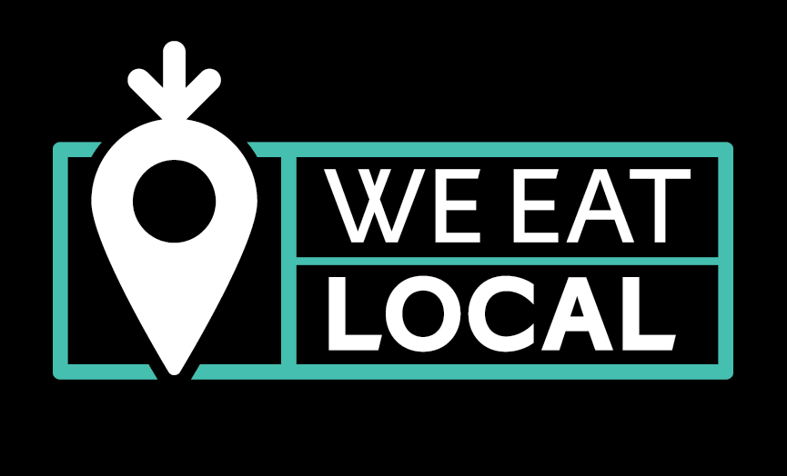 We Eat Local logo and text